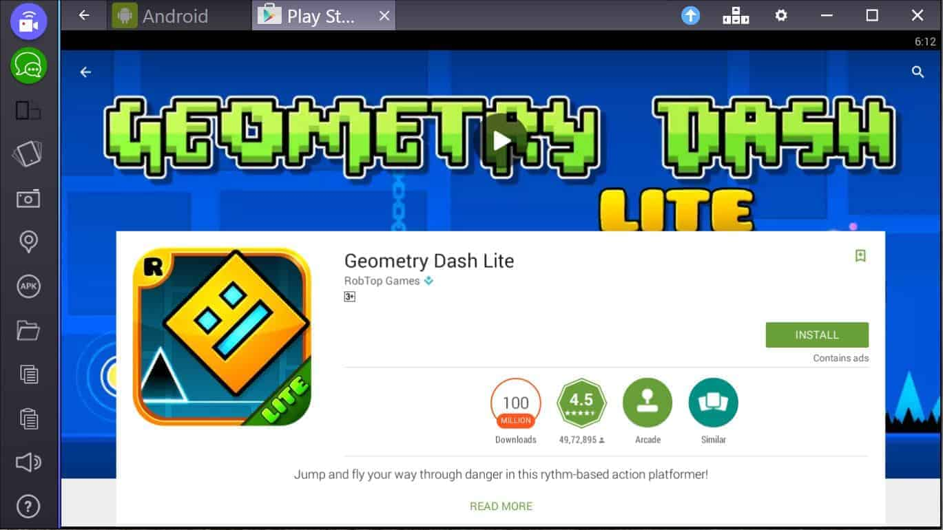 Geometry Dash Lite para PC facil