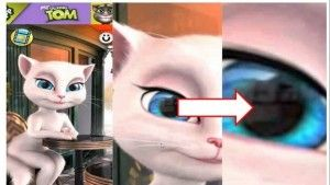 my talking angela peligro falso