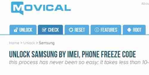 Cómo Desbloquear un Teléfono Samsung con Movical rapido