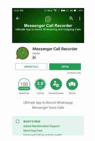 Grabar Llamadas de Whatsapp screen