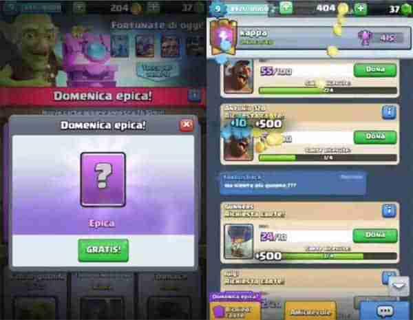 server privato Clash Royale app