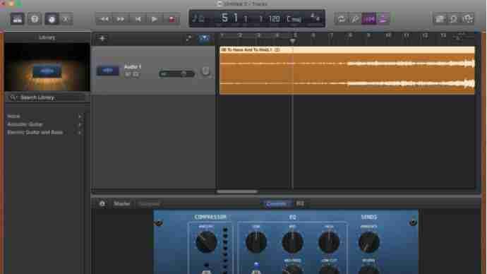 editar canciones con garageband musica