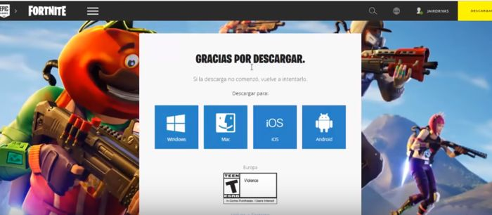 descargar fortnite para pc armas