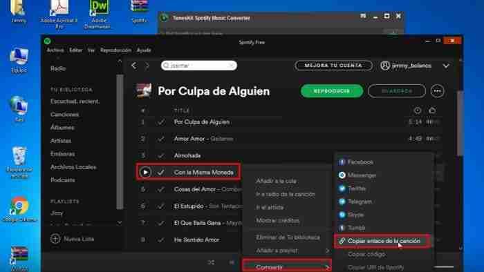 como descargar canciones de spotify en pc con conexion
