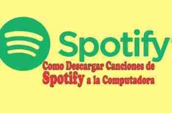 como descargar canciones de spotify en pc ordenador