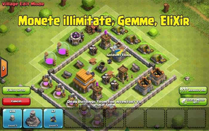 scarica server privato Clash of clans