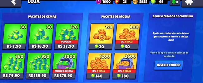 Brawl Stars Apk Portugues monedas