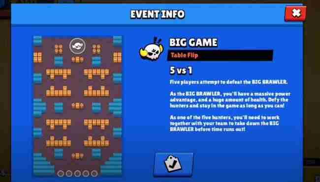 evento Big Game Brawl Stars