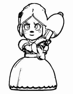 Dibujos para colorear Piper brawl Stars Rosa