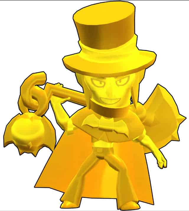Descargar Mortis Brawl Stars Gold hat