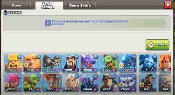 Null's Clash of Clans Nederlands iOS