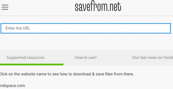 Instalar SaveFrom apk