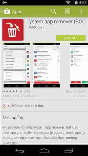 Descargar System app remover Apk