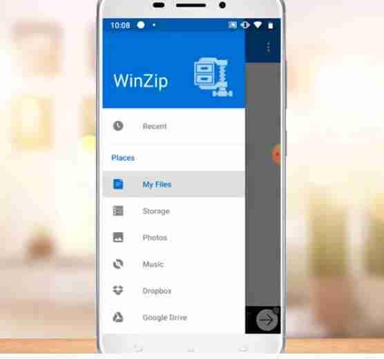 instalar WinZip APK Português