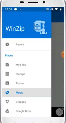 installer WinZip APK français