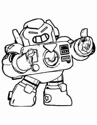dibujos para colorear Surge Brawl Stars android