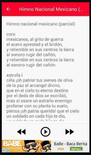 letra himno de México